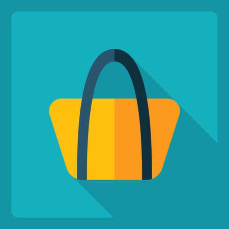 Flat modern design with shadow  Icon handbag