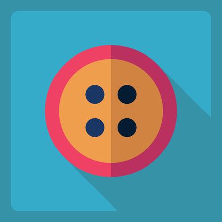 darn: Flat modern design with shadow  Icon button
