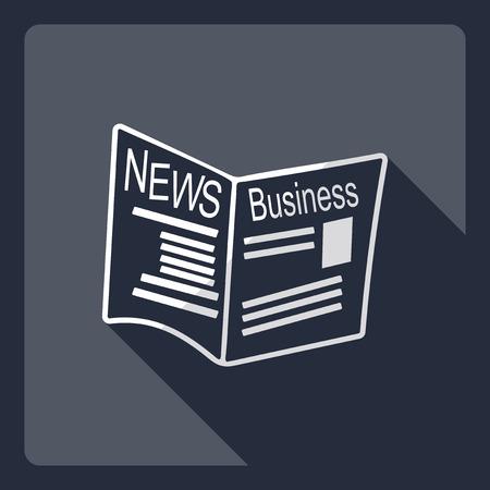 newsprint: Flat modern design with shadow  Icon newspaper