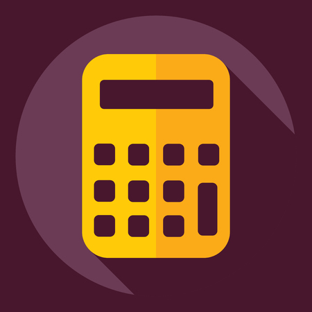Flat modern design with shadow  Icon calculator