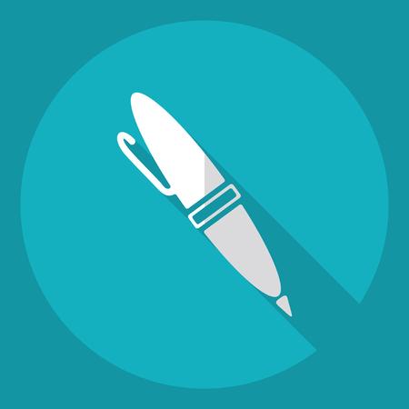 Flat modern design with shadow  Icon pen Illustration