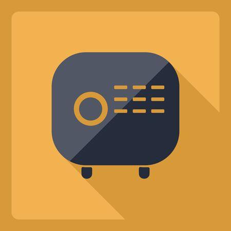 selector: Flat modern design with shadow  Icon radio Illustration