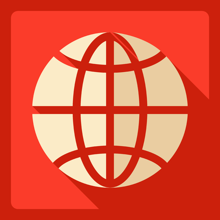 Flat modern design with shadow  Icon Earth