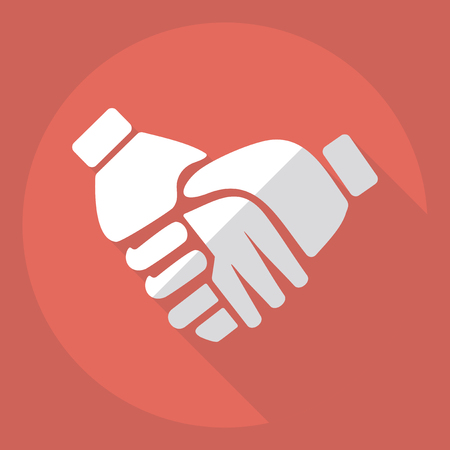 arms trade: Flat modern design with shadow  Icon handshake Illustration