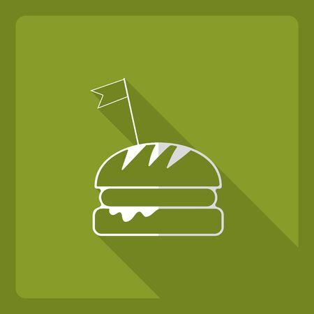 Flat modern design with shadow  Icon hamburger Illustration