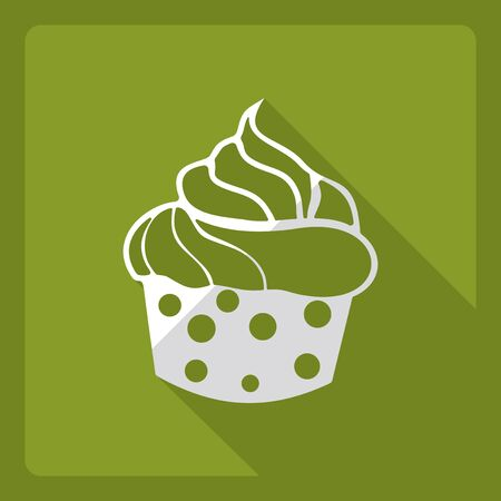 Flat modern design with shadow  Icon cake