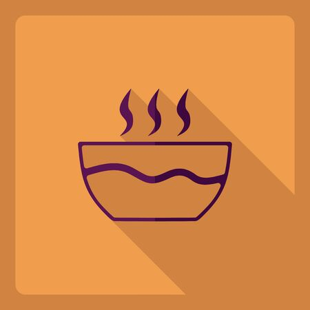 Flat modern design with shadow  Icon noodles Illustration