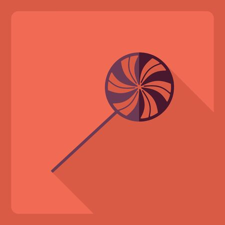 Flat modern design with shadow  Icon candy