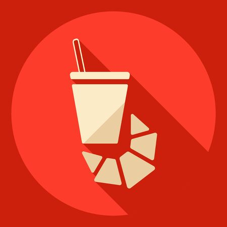 Flat modern design with shadow  Icon coffee