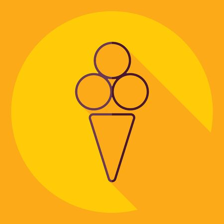Flat modern design with shadow  Icon ice cream