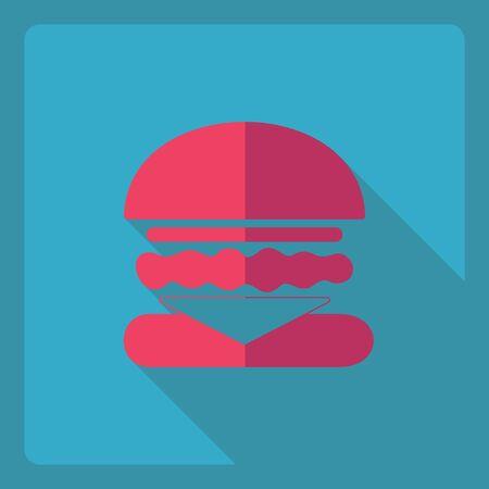 Flat modern design with shadow  Icon burger