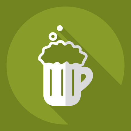 Flat modern design with shadow  Icon beer Illustration
