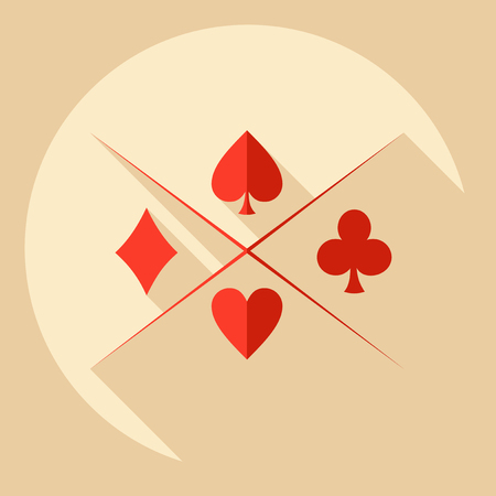 solitaire: Flat modern design with shadow  Icon poker