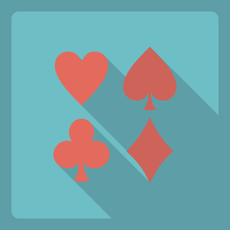 Flat modern design with shadow  Icon poker