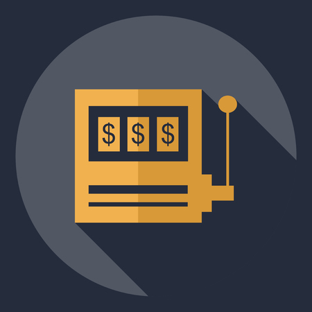 slots: Flat modern design with shadow  Icon slots