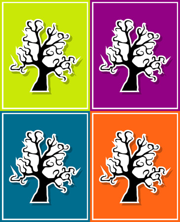 gnarled: new and creative style sticker on background