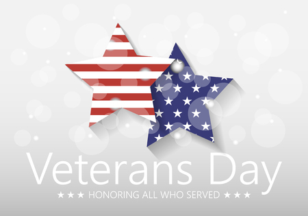 Vector illustration Veterans day poster template Stars with U.S.A Illustration