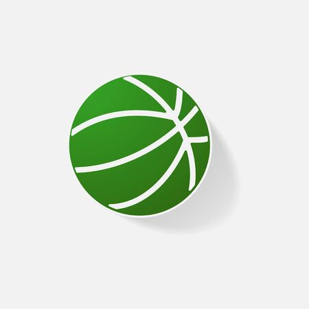 Sticker paper products realistic element design illustration basketball