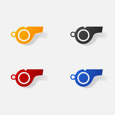 Sticker paper products realistic element design illustration whistle Reklamní fotografie - 66265668