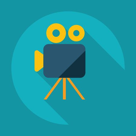 Flat modern design with shadow Icon video camera
