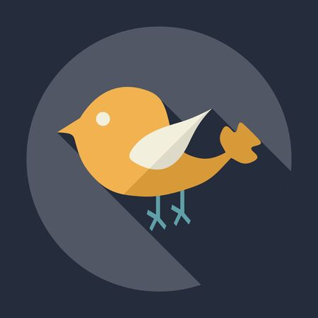 bird shadow: Flat modern design with shadow Icon  bird