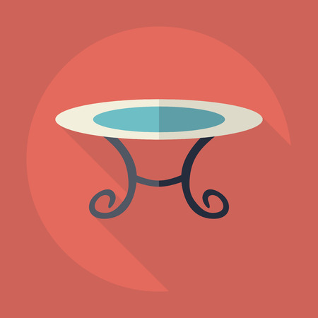 Flat modern design with shadow Icon  table