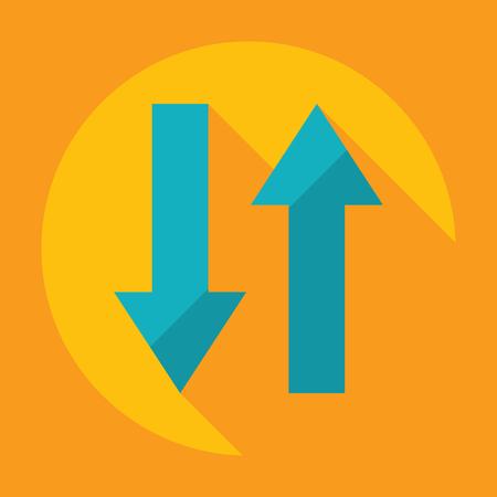 Flat modern design with shadow Icon  arrow