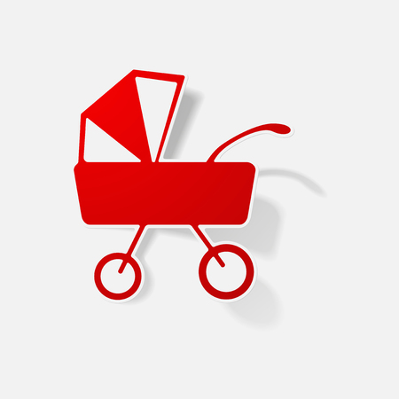 pram - baby carriage sticker