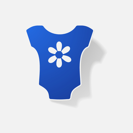 romper: Brand new born baby clothes for boys and girls  vector