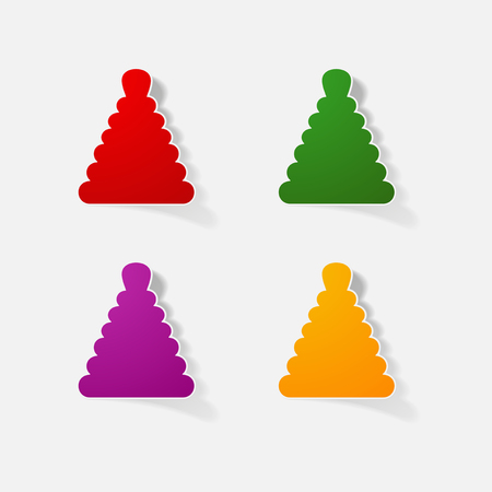 bebe a bordo: Sticker paper products realistic element design illustration toy pyramid