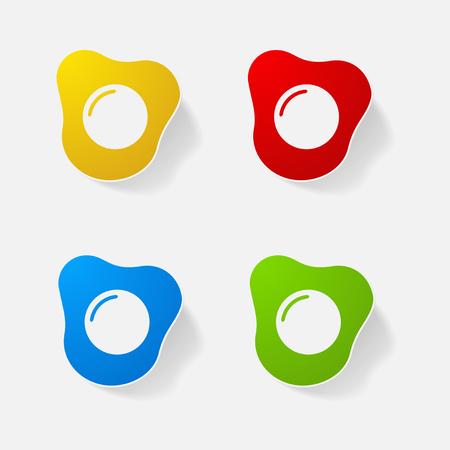 Sticker paper products realistic element design illustration egg