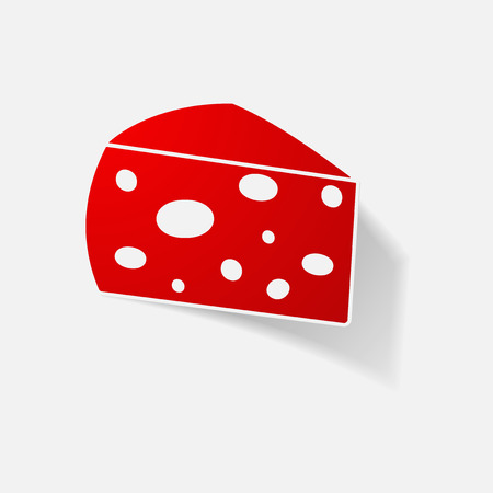 Sticker paper products realistic element design illustration cheese