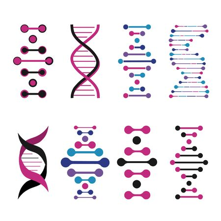 cloning: Abstract DNA background. Vector illustration. Beautiful structure of the spiral molecule