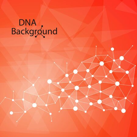 addition: Abstract DNA background. Vector illustration. Beautiful structure of the spiral molecule with the addition   in poligonal style. Trend 2017 Stock Photo