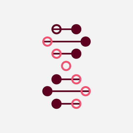 Thin line concept. DNA Icons set vector illustration. Polygonal DNA concept. DNA, genetic sign, elements and icons collection. Vector mesh spheres.
