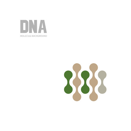 Bottom structure. Molecular and genetic mesh. Medicine and science. Vector graphics Illustration