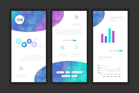 Molecule Background DNA page template.