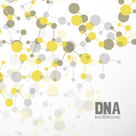Bottom structure. Molecular and genetic mesh. Medicine and science. Vector graphics Ilustração Vetorial