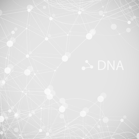 Bottom structure. Molecular and genetic mesh. Medicine and science. Vector graphics Banque d'images