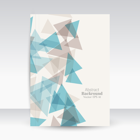 Creative brochure correspondence. Title page. Book cover. Own style. Abstraction on white background.