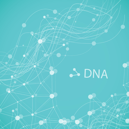 Bottom structure. Molecular and genetic mesh. Medicine and science. Vector graphics Stock Photo