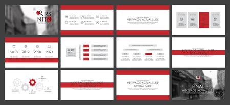 Ce modèle est le meilleur en tant que présentation commerciale, utilisé dans le marketing et la publicité, le dépliant et la bannière, le rapport annuel. Éléments sur fond gris foncé