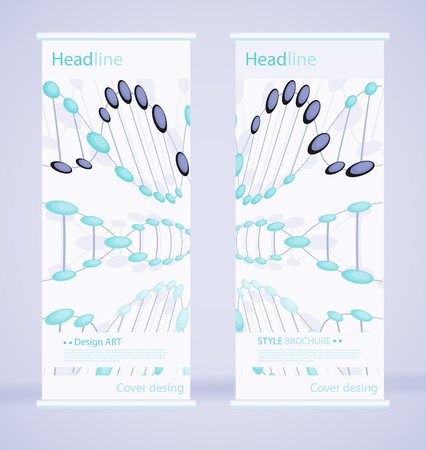 Dna template is the best as a business presentation, used in marketing and advertising, molecule flyer and banner, the annual report. Elements on a dark grey background