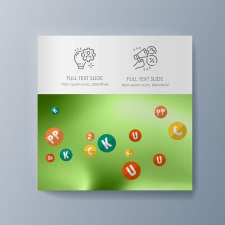 Business presentation brochure advertising goods and services. Vector illustration Ilustração
