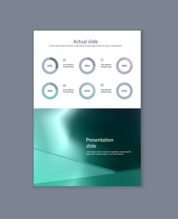 Business presentation brochure advertising goods and services. Vector illustration