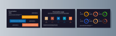 Set of brochures for space exploration and gravity research. Vector illustration Illustration