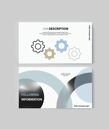 Set of brochures for marketing the promotion goods and services on market Illustration