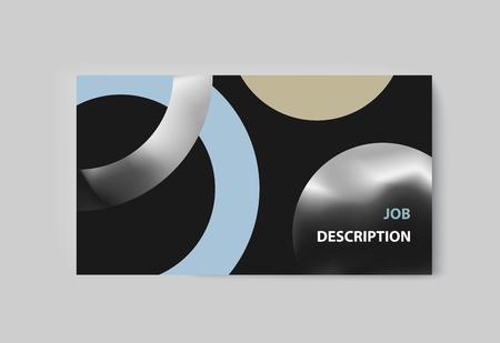 Business presentation brochure advertising goods and services. Vector illustration Иллюстрация