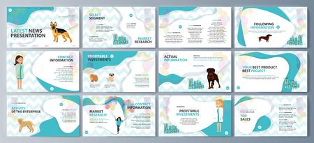 Set brochures voor reclame voor de aankoop van huisdieren. vector illustratie