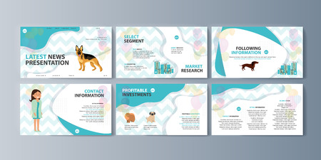 Set of brochures kit for pet purchase advertising Stock Illustratie